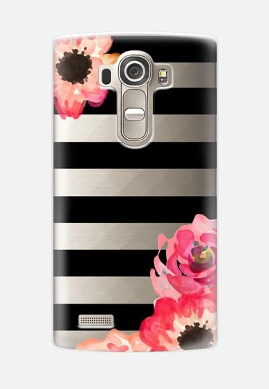 Striped Florals (Transparent) LG G4 Case by Sushi & Queso Designs | Casetify