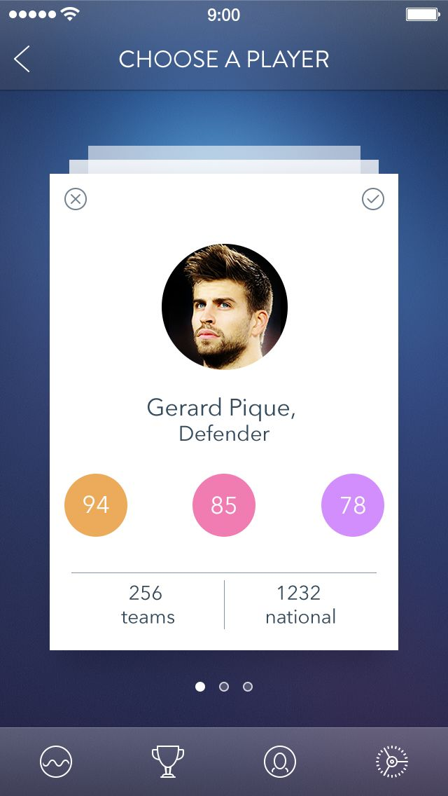 Football_player_cards #mobile #ui #design pinterest.com/alextcsung/
