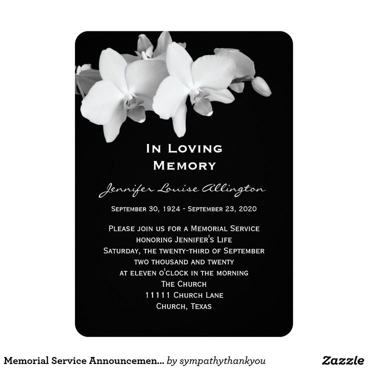 99 best Celebration of life Invitations images on Pinterest - memorial service invitation template