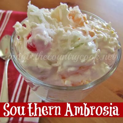 The Country Cook: Creamy Ambrosia