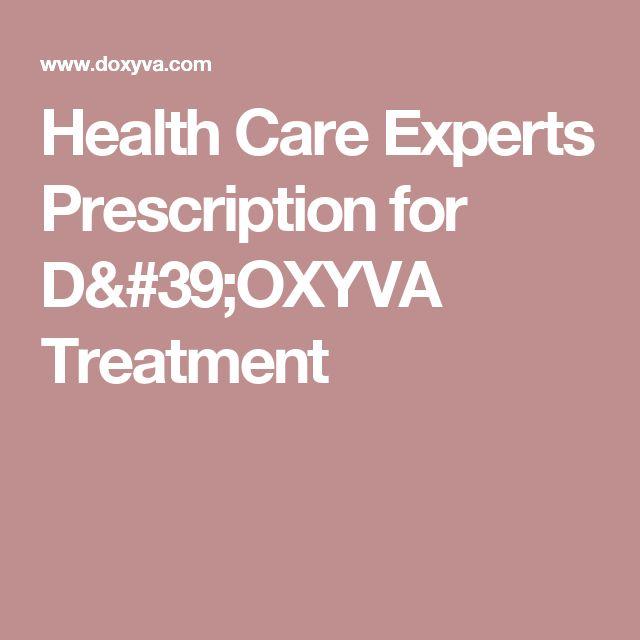 Health Care Experts Prescription for D'OXYVA Treatment
