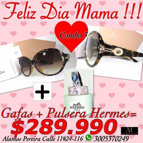 Súper regalo para mamá Gafas DIOR más Pulseras Hermes originales...