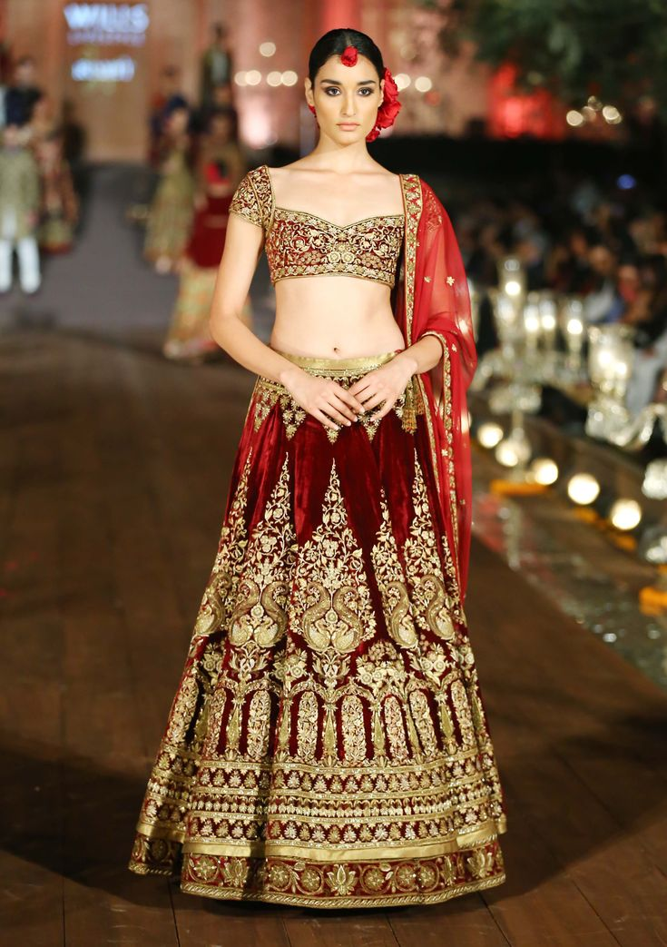 Still swooning over this bridal lehenga from Rohit Bal's 2015 couture collection.