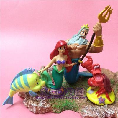 37.51$  Buy now - http://ali3pr.shopchina.info/1/go.php?t=32626533986 - 6-10cm  pvc  figure  model  Mermaid ,4pcs/set rare  #magazineonlinebeautiful