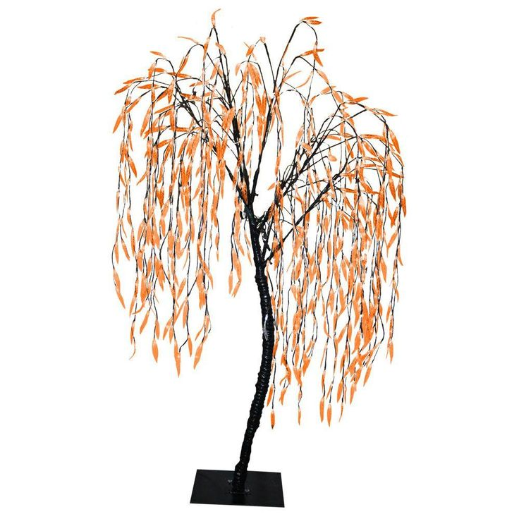 String Christmas Tree Lights Artificial Tree : Have you ever seen an orange willow tree? The Home Depot has them! Pre-lit and ready to light up ...