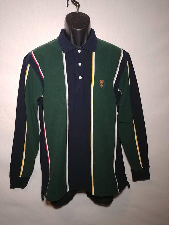 012feaeba Nineties Ralph Lauren Striped Rugby   Polo Shirt  Vintage 90 s