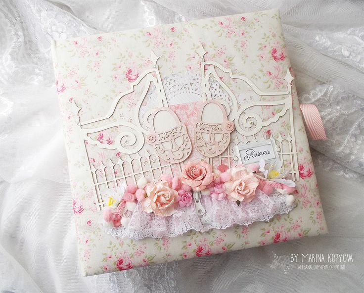 Hand Made by Alesanalovesky: Детский альбом для Яночки по курсу Baby Chic