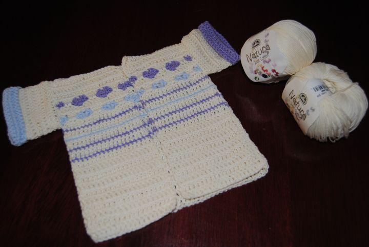 Crochet Baby Cardigan: http://bit.ly/1B9UJWU