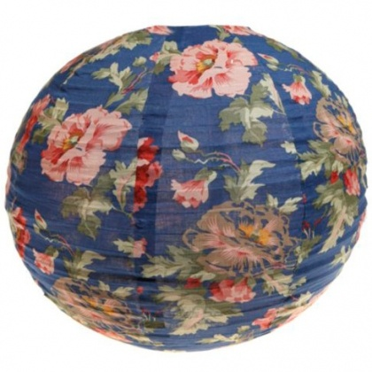 vintage floral fabric lampshade.