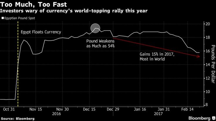 World-Topping Rally Too Much for Egyptian Pound's Own Good - Bloomberg
