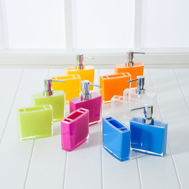 fashionably bright and fun tango bathroom accessories by pillow talk made from acrylic in 6 brilliantly