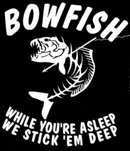 bowfishing decals | Flounder gigging decal? - Pensacola Fishing Forum