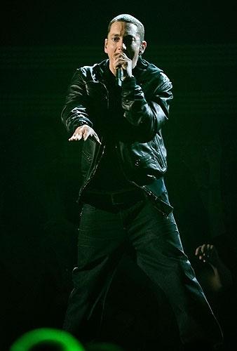 Eminem at the 2011 Grammy Awards. Los Angeles, February 13, 2011.