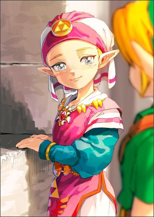 After defeating Ganon and becoming children again...look at the fondness in Zelda's eyes.