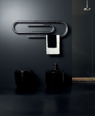 Italian designer bathroom radiator