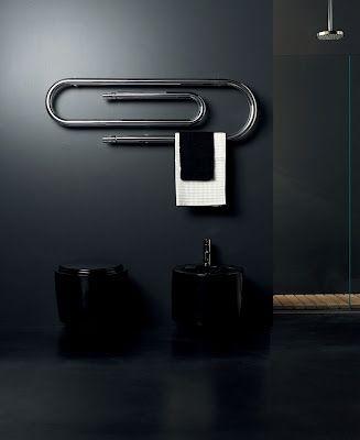 Italian designer bathroom radiator