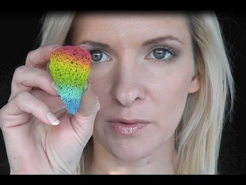 Tear Drop Sponge for Face Painting Butterfiles - YouTube