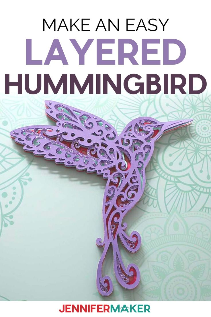 Hummingbird SVG Make a 3D Layered Design With Your Cricut