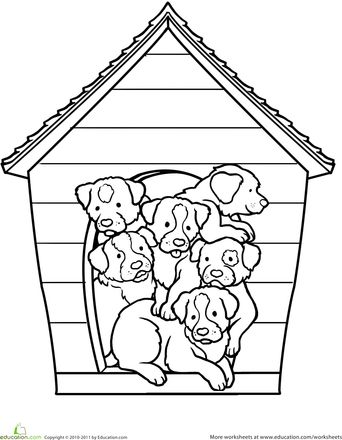 Puppies Coloring Page Animal SheltersDoor