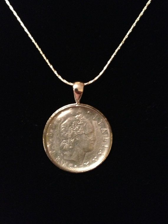 italian Lira pendant neckalce numismatic by MooseMommaCreations, $10.00