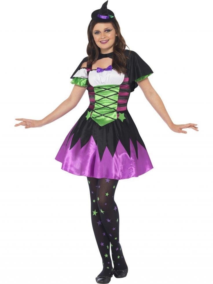 #Disfraz de Bruja infantil.Punky neon #witch #costume. #halloween  http://www.leondisfraces.es/producto-879-disfraz-de-bruja-infantil