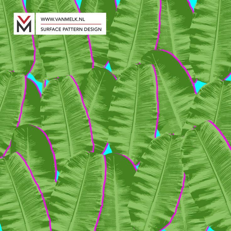 Banana leaf surface pattern design, wallpaper, textile design, wrapping