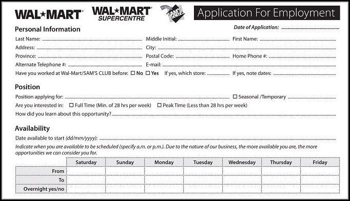Walmart Job Application Form Walmart Job Application Form Print Out Job Applications Employment Application Online Job Applications Employment Form