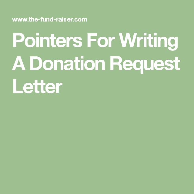 Pointers For Writing A Donation Request Letter