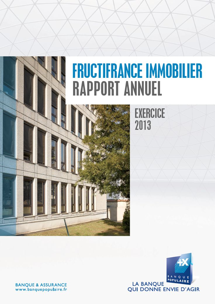 Rapport annuel - Couverture - FRUCTIFRANCE IMMOBILIER - Exercice 2013 - NAMI-AEW EUROPE