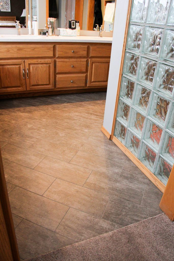 Master Bathroom Flooring Armstrong Vinyl Tile Alterna 8 X16 Enchanted Forest