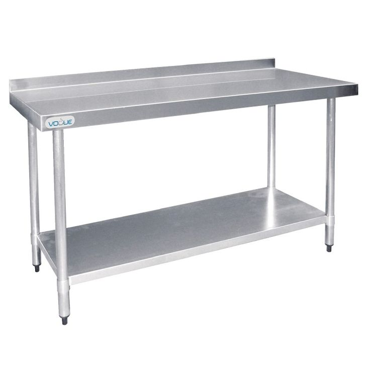 Vogue Stainless Steel Prep Table with Splashback 1200mm - T381