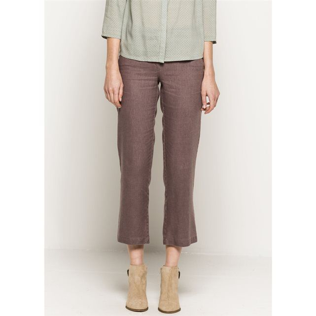 Debbia 7/8-Length Garment Dyed Linen Trousers SOMEWHERE