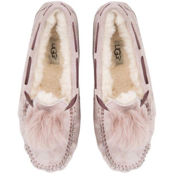 376632dc0a8 UGG® Women's Dakota Pom Pom Slippers - Dusk ($100) ❤ liked on ...