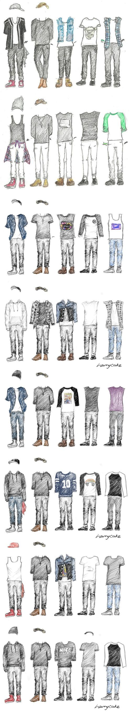 The boys WWA outfits (: seriously you know you have a problem when you know exactly whose outfit is whose (and they are just drawings)