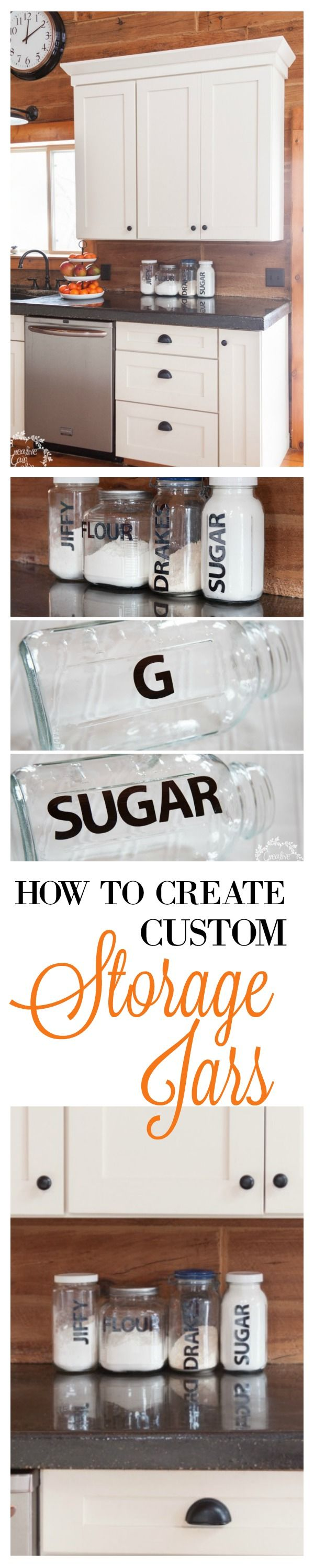 Fast and Easy Tutorial for Creating Custom Kitchen Storage Jars