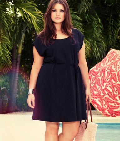 Simple summer little black dress.  H+ Dress $12.95 Sizes 2 - 28 #plus