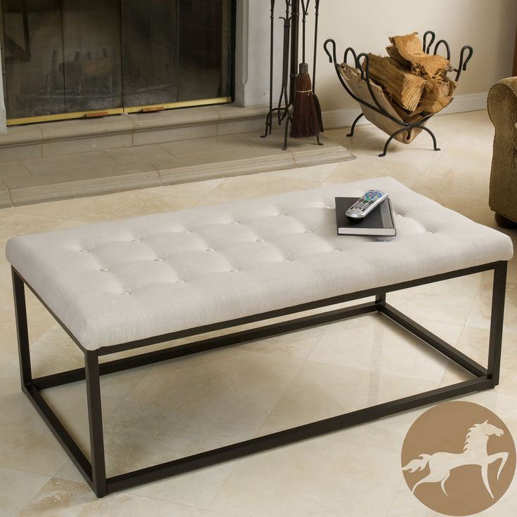 Delightful Coffee Table Overstock Part - 10: Family Room Option Coffee Table Ottoman Bench Tufted Ottomans And  Footstools Beige Stool Furniture