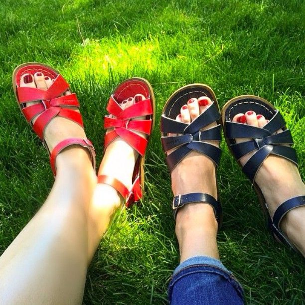 Soulmates in Saltwaters! Summer and Saltwater sandals go hand-in-hand {$39/pair for adult sandals}. We carry styles and sizes for all!  Picture credit: @princess_melody_of_music_land_ #childrenshourshoes || The Children's Hour Bookstore & Boutique || Clothing  Gifts  Toys  Shoes || 898 South 900 East || Salt Lake City Utah || 801.359.4150 || childrenshourbookstore.com