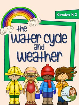 This mini-unit contains 17 pages of ideas, demonstrations, and worksheets for your primary science class.  Included in the Water Cycle and Weather Mini-Unit:-Weather Web-Weather Wordsearch-Observing the Weather (5 senses activity to see, hear, smell, feel, and taste the weather)-Understanding Weather information page-Moving Air demonstration (with teacher notes)-Water in the Air demonstration 9with teacher notes)-Water Cycle information page-Water Cycle colouring page-Water cycle - label…