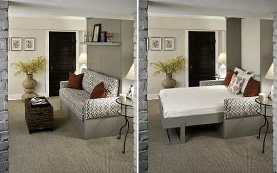 25 best images about office guest room ideas on pinterest for Apartment therapy murphy bed