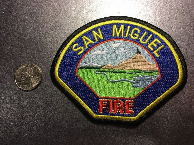 San Miguel California Fire Department Firefighter Paramedic Patch Ca