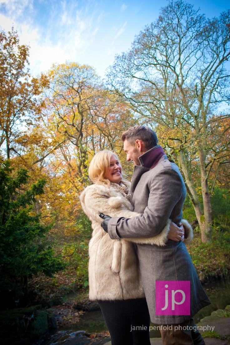 Claire and James' pre wedding shoot at Jesmond Dene