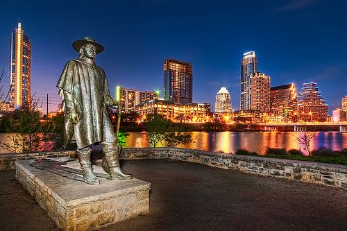 We have a statue dedicated to Stevie Ray Vaughan. Right at Auditorium Shores, this great photo-op also has a perfect view of the city skyline as well as walking trails and an off-leash dog park.
