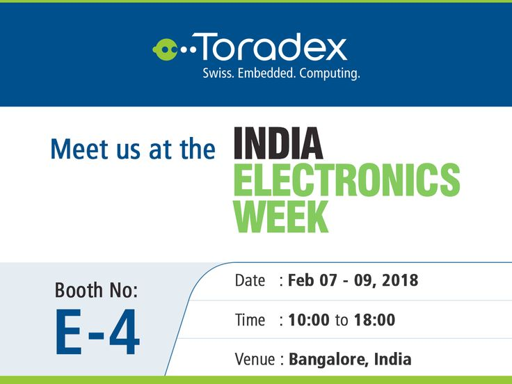 Meet us next month at the India Electronics Week 2018 in Bangalore from Feb 07-09! Do visit our booth (#E-4) to check out our new offerings, exciting demos and much more. We hope to see you there! #IEW #IEW18