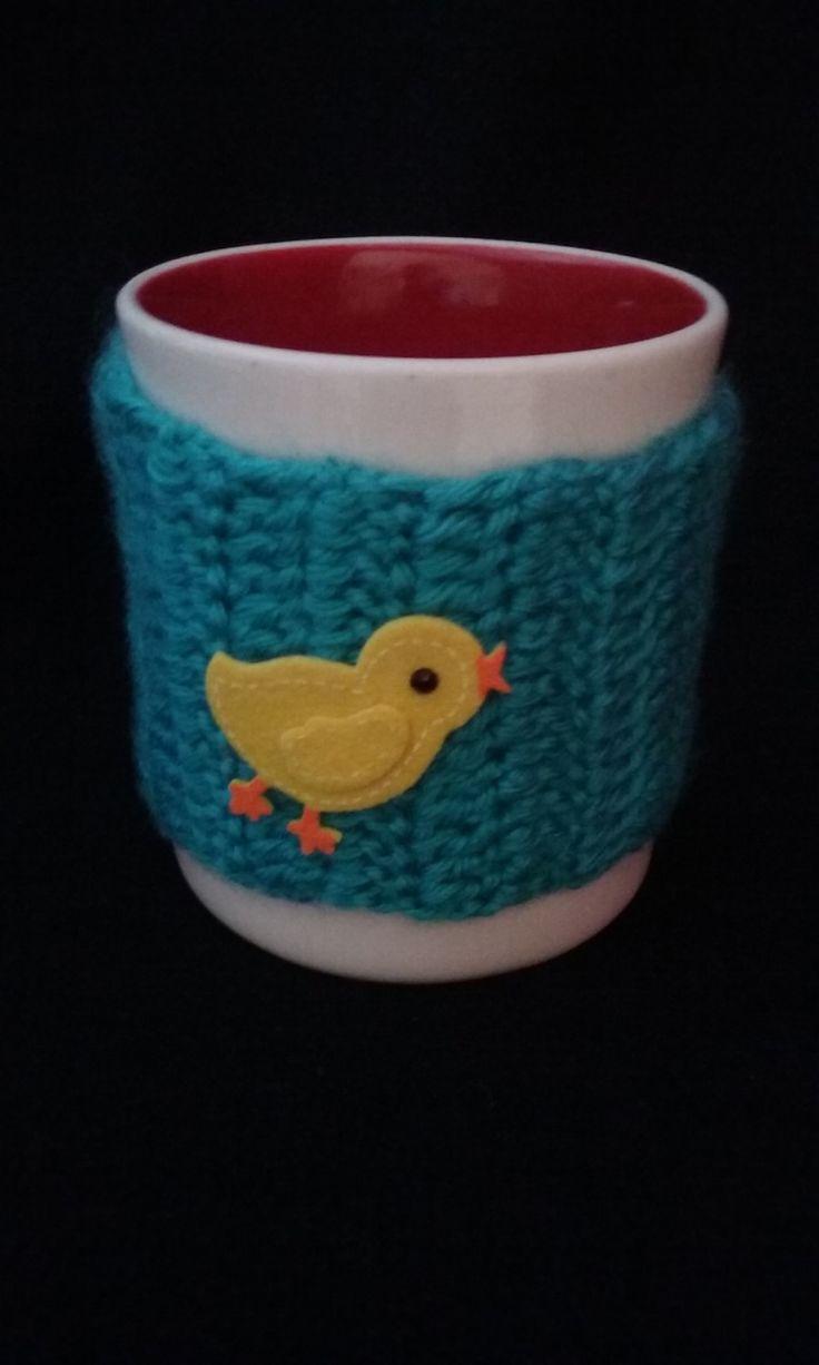 Aqua Cup Sleeve, Cup Cozy, Aqua Cup Cozy, Mug Cozy by JsCreations05 on Etsy