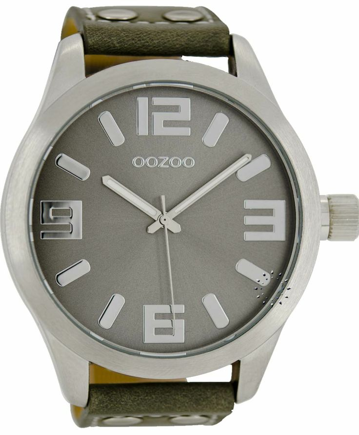 OOZOO Large Τimepieces Khaki Leather Strap Μοντέλο: C1007 Η τιμή μας: 65€ http://www.oroloi.gr/product_info.php?products_id=38477