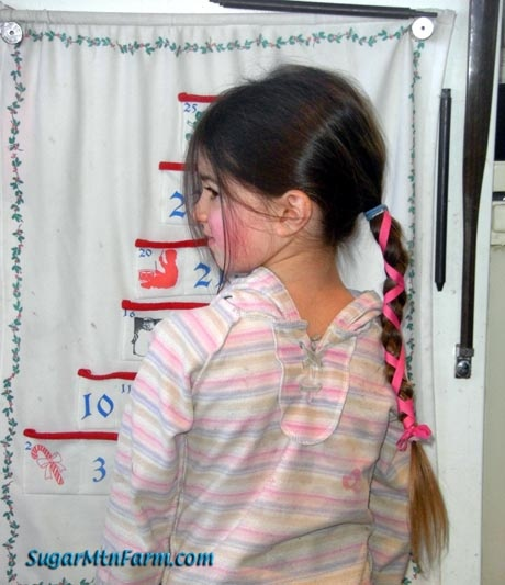 My mom used to do that.... 100 times with the brush through my hair, and then she would braid it with a nice ribbon