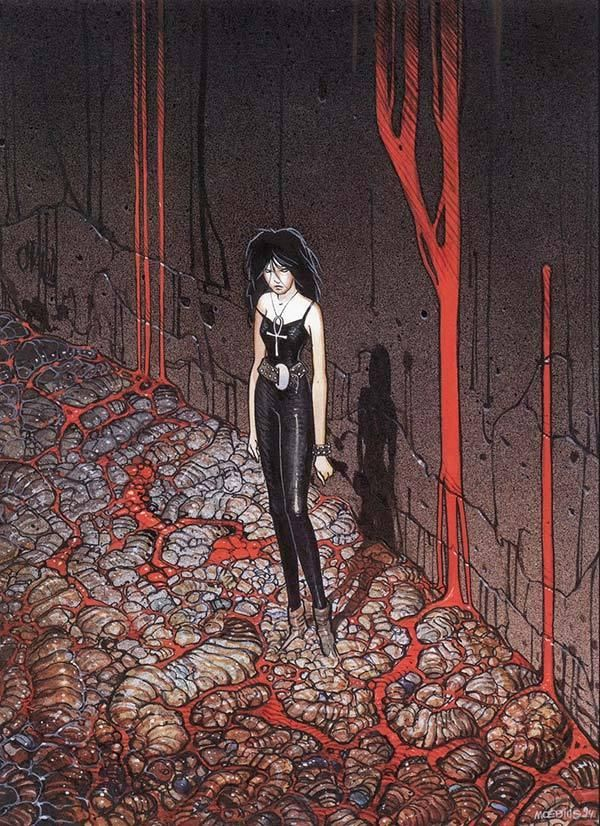 The Endless Galleries and the Sandman Galleries.. so many amazing artists made so much amazing art.  I only ever bought one piece of original art. This.    snowce:    Moebius, Death