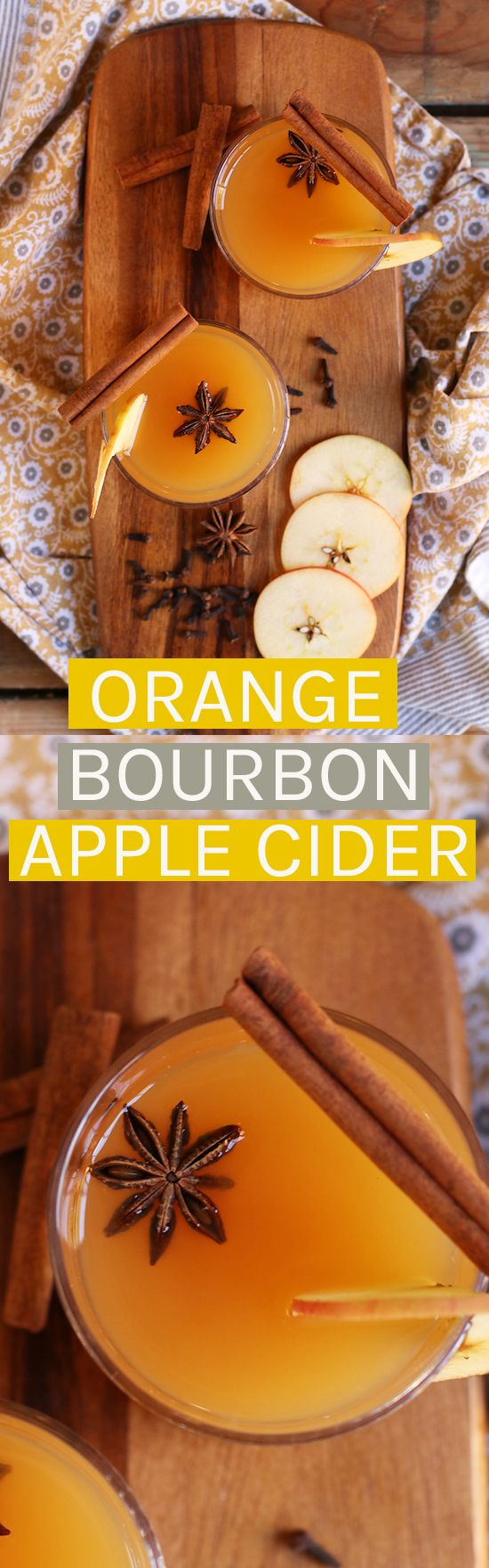This Orange Bourbon Apple Cider pairs perfectly with your holiday desserts