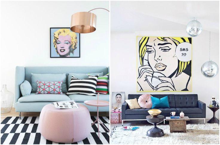 Варианты декоративных светильников для интерьера в стиле поп-арт #interior #мебель #дизайн #интерьер #дом #уют #декор